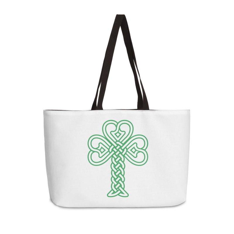 Celtic Shamrock knotwork Accessories Weekender Bag Bag by Peregrinus Creative