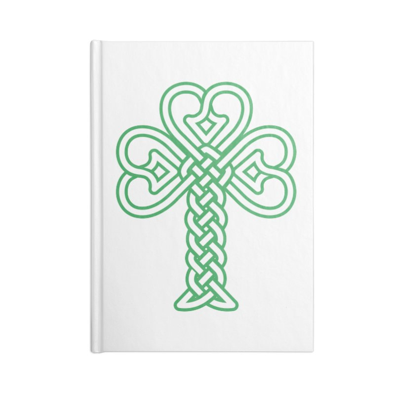 Celtic Shamrock knotwork Accessories Blank Journal Notebook by Peregrinus Creative