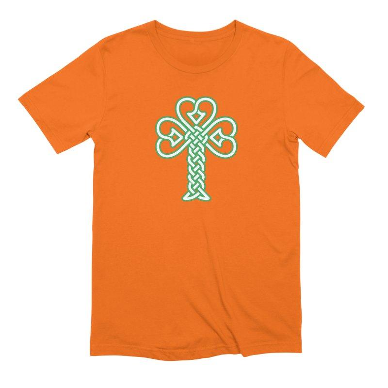 Celtic Shamrock knotwork Men's Extra Soft T-Shirt by Peregrinus Creative