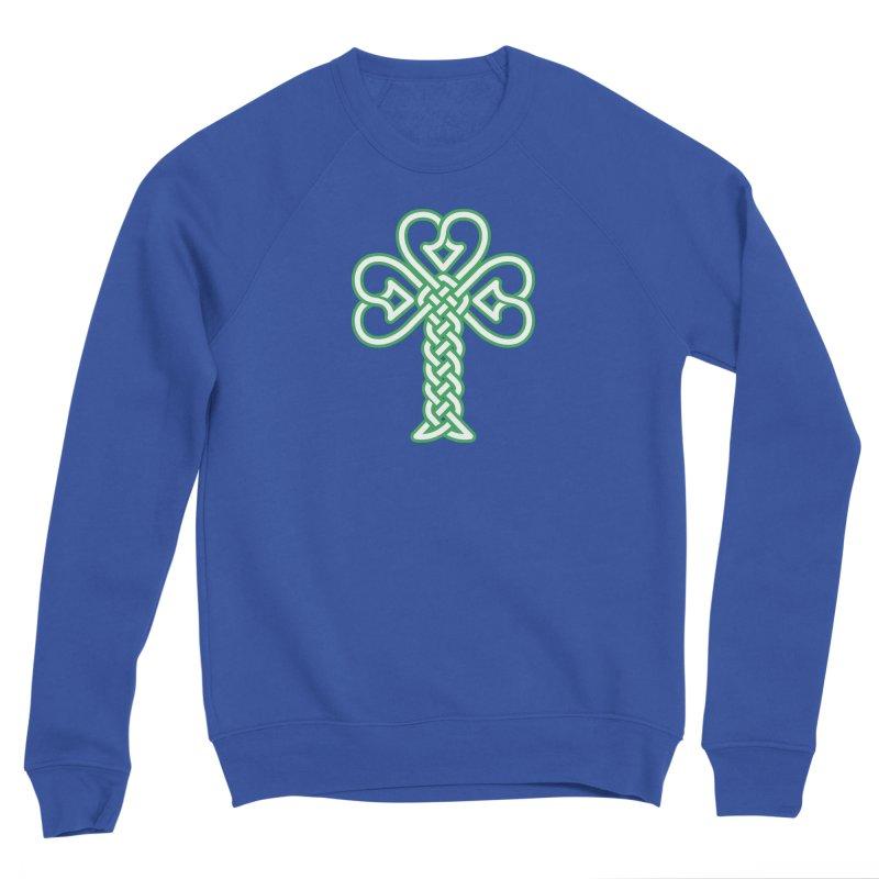 Celtic Shamrock knotwork Men's Sponge Fleece Sweatshirt by Peregrinus Creative
