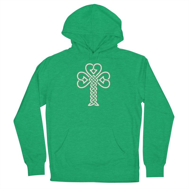 Celtic Shamrock knotwork Women's French Terry Pullover Hoody by Peregrinus Creative