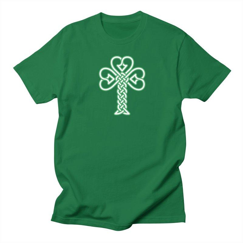 Celtic Shamrock knotwork Men's Regular T-Shirt by Peregrinus Creative
