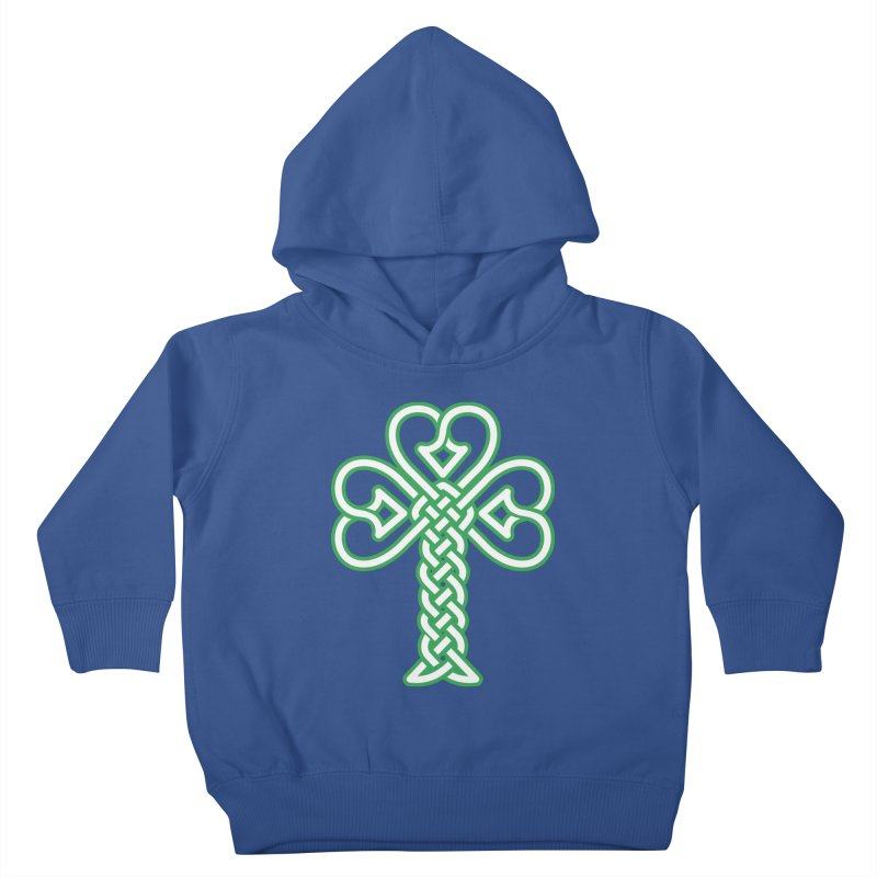 Celtic Shamrock knotwork Kids Toddler Pullover Hoody by Peregrinus Creative