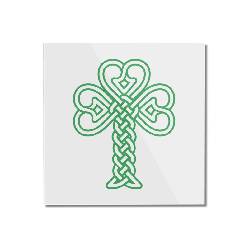 Celtic Shamrock knotwork Home Mounted Acrylic Print by Peregrinus Creative