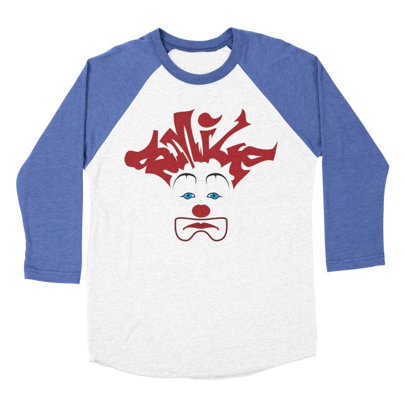 sMiLe Men's Baseball Triblend Longsleeve T-Shirt by Peregrinus Creative