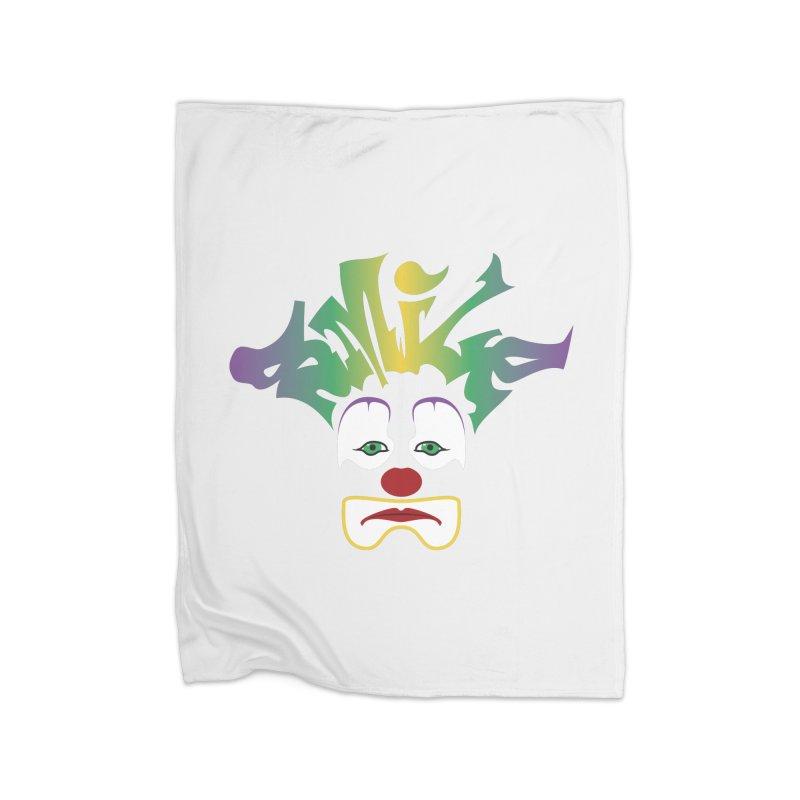 Mardi Gras sMiLe Home Fleece Blanket Blanket by Peregrinus Creative