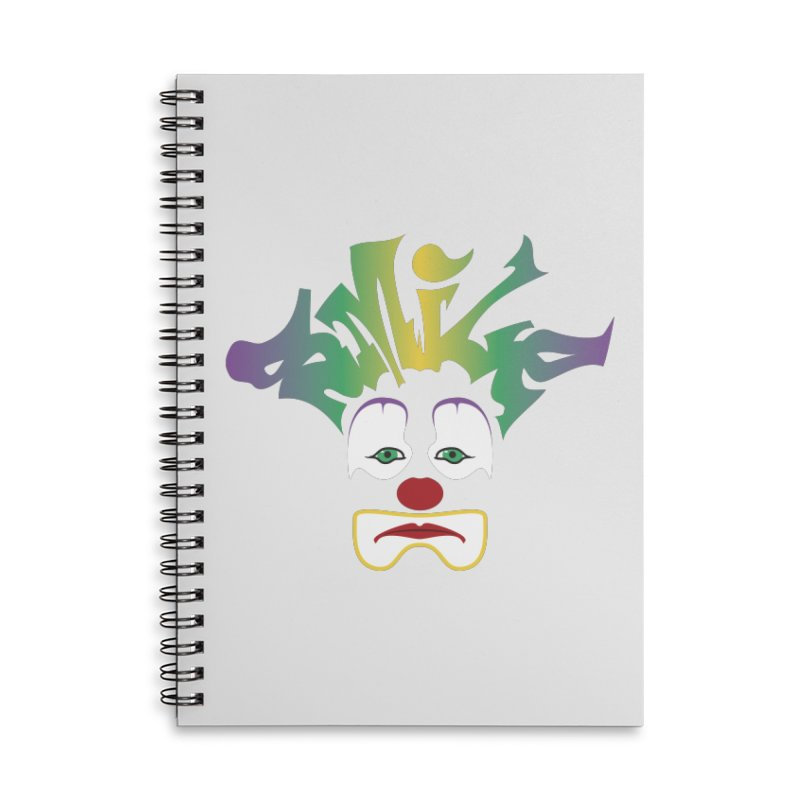 Mardi Gras sMiLe Accessories Lined Spiral Notebook by Peregrinus Creative