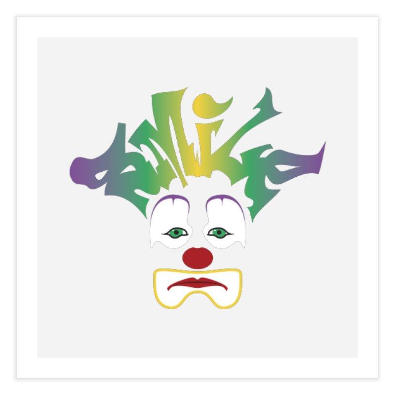 Mardi Gras sMiLe Home Fine Art Print by Peregrinus Creative