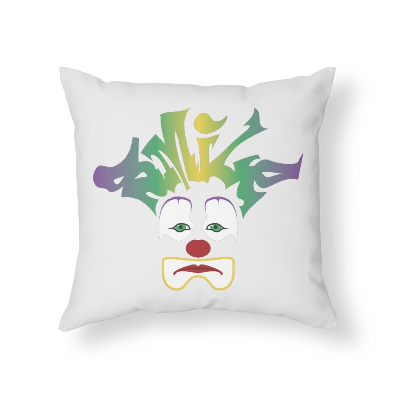 Mardi Gras sMiLe Home Throw Pillow by Peregrinus Creative
