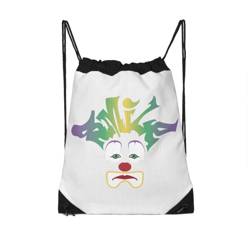 Mardi Gras sMiLe Accessories Drawstring Bag Bag by Peregrinus Creative