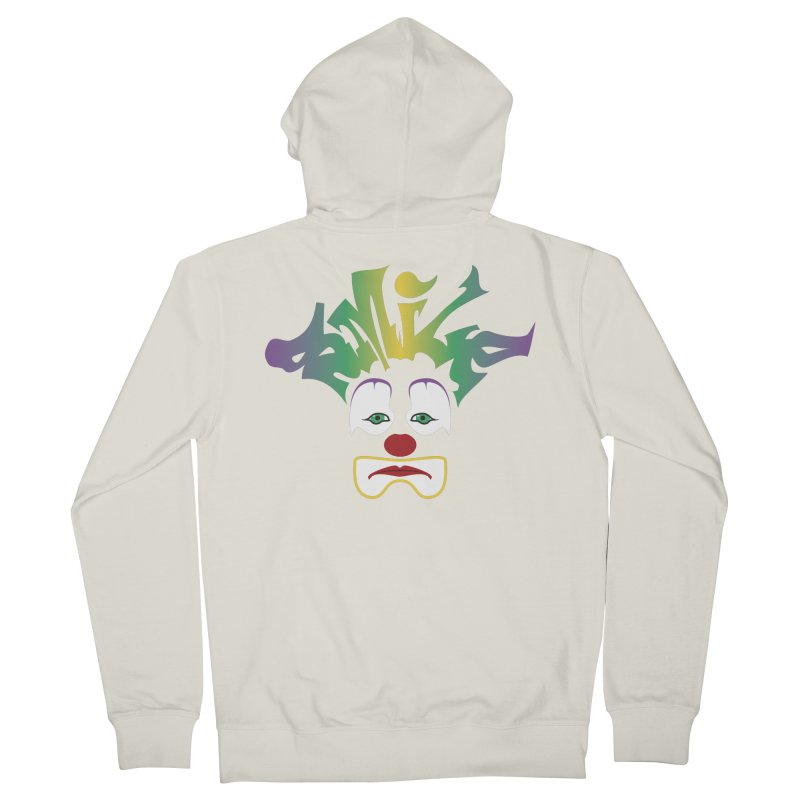 Mardi Gras sMiLe Men's French Terry Zip-Up Hoody by Peregrinus Creative