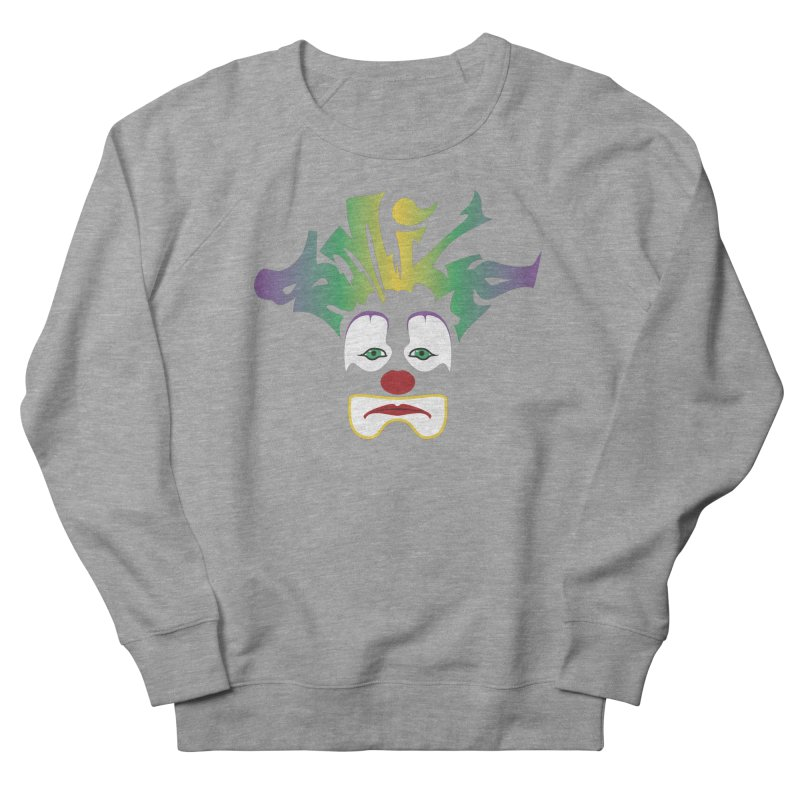 Mardi Gras sMiLe Women's French Terry Sweatshirt by Peregrinus Creative