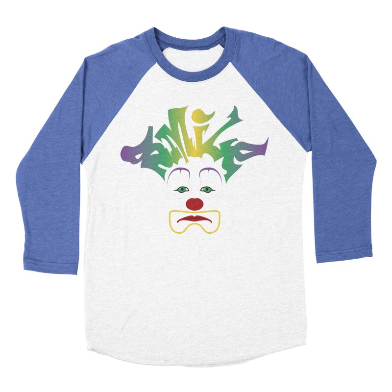 Mardi Gras sMiLe Women's Baseball Triblend Longsleeve T-Shirt by Peregrinus Creative