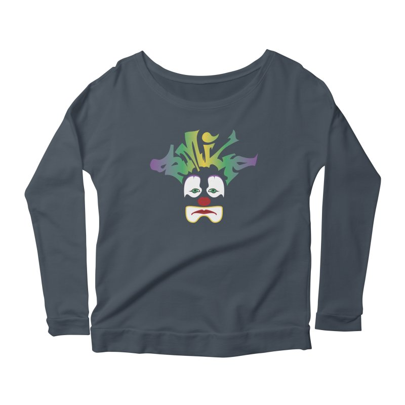 Mardi Gras sMiLe Women's Scoop Neck Longsleeve T-Shirt by Peregrinus Creative