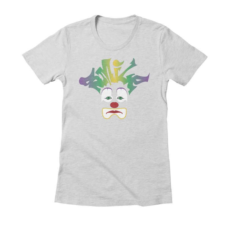 Mardi Gras sMiLe Women's Fitted T-Shirt by Peregrinus Creative