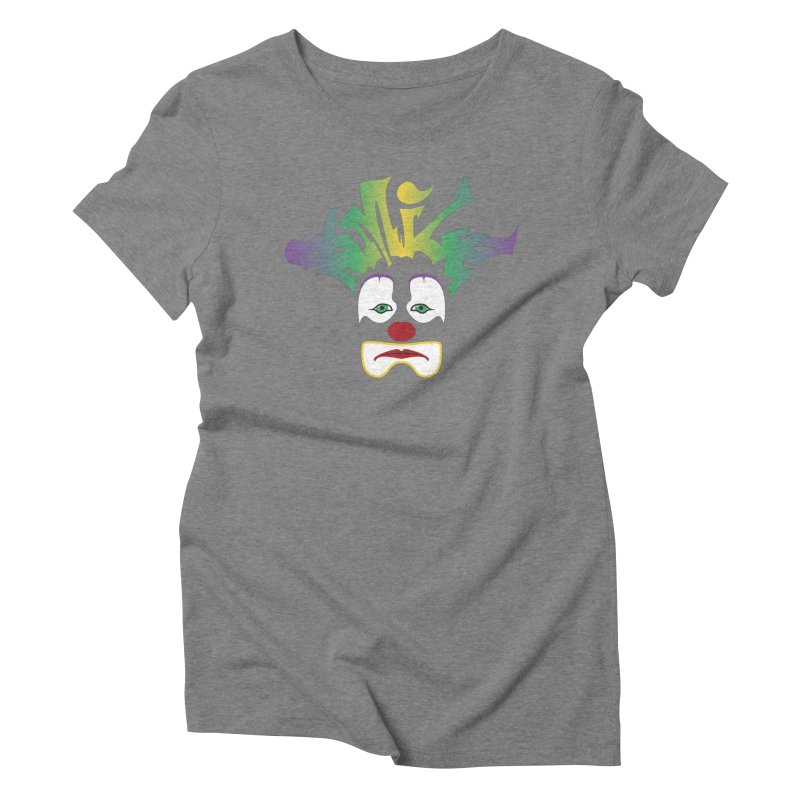 Mardi Gras sMiLe Women's Triblend T-Shirt by Peregrinus Creative