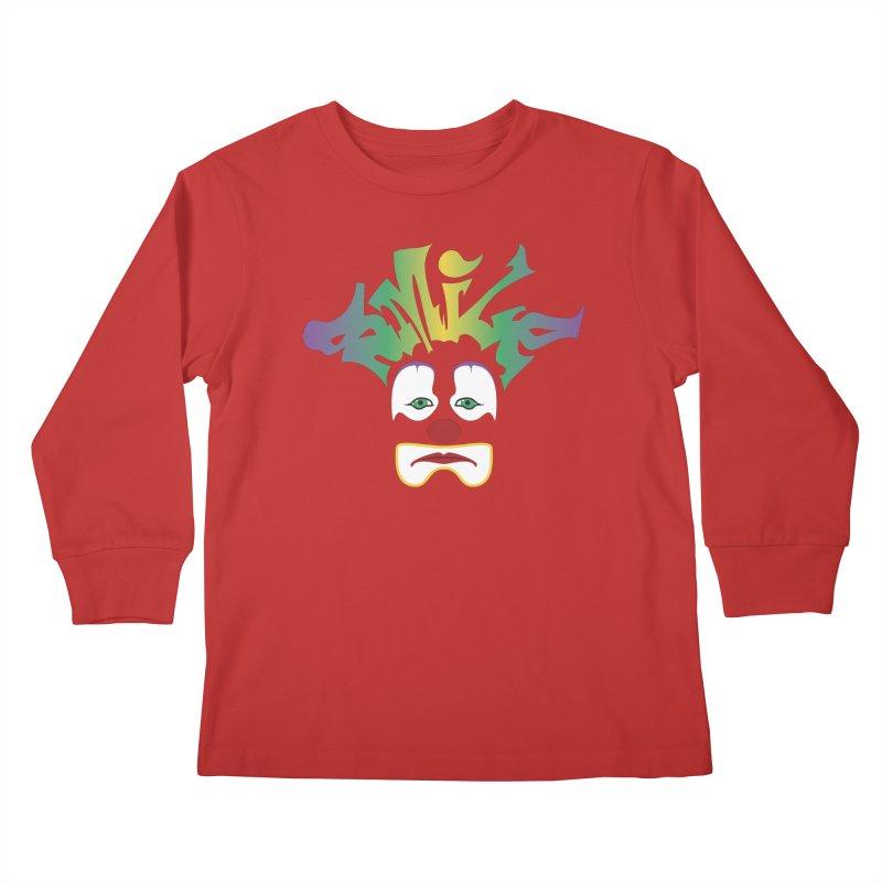 Mardi Gras sMiLe Kids Longsleeve T-Shirt by Peregrinus Creative