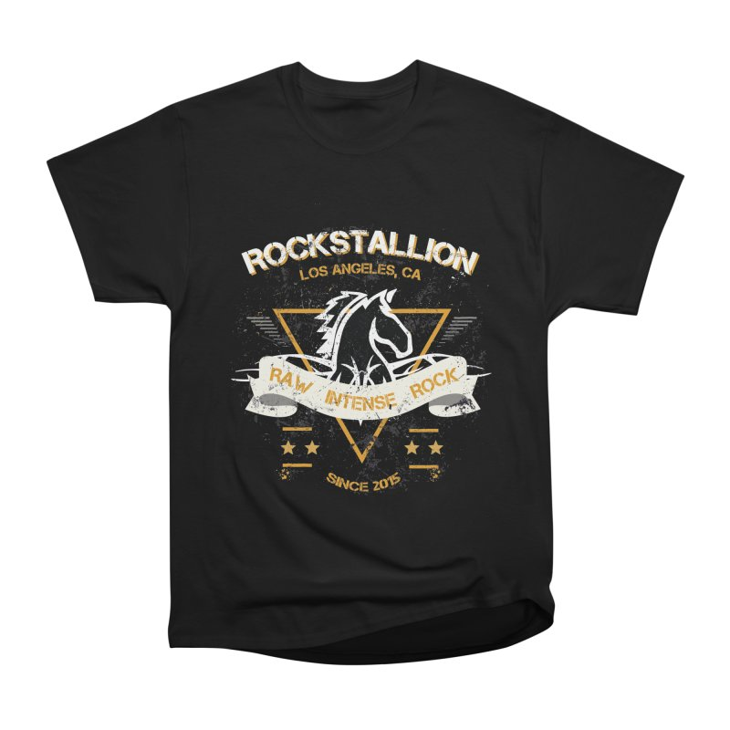 RockStallion Dirty Badge Men's T-Shirt by Perfecto De Castro's Artist Shop