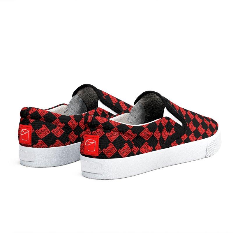 PDC Checkered Kicks B/R Women's Shoes by Perfecto De Castro's Artist Shop