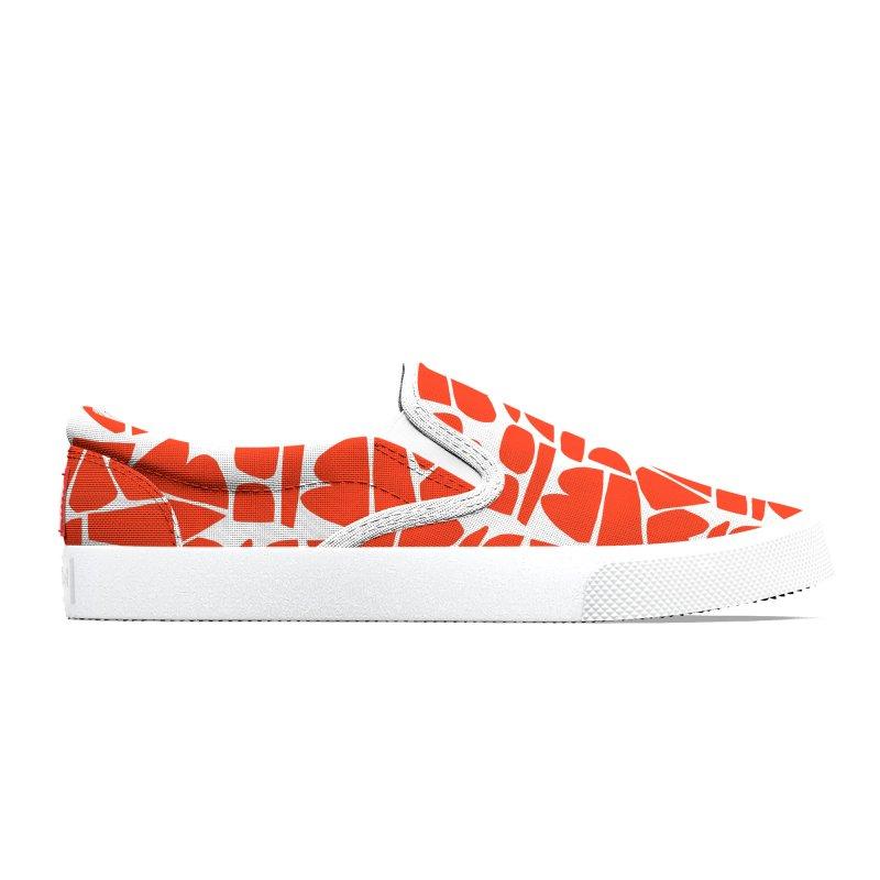 Happy Canvas Shoes Red Men's Shoes by Petra Kaksonen