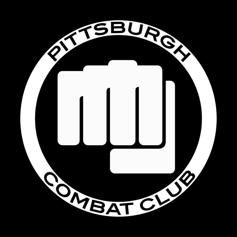 PCC White Logo, Centered by PghCombatClub's Artist Shop