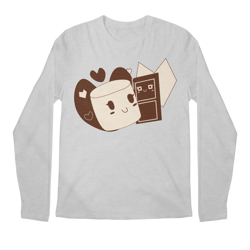 Chocolate Marshmallow Love Men's Regular Longsleeve T-Shirt by Phancipy's Artist Shop