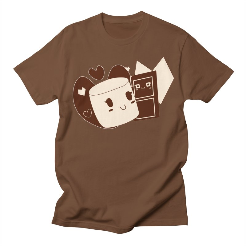 Chocolate Marshmallow Love Men's T-Shirt by Phancipy's Artist Shop