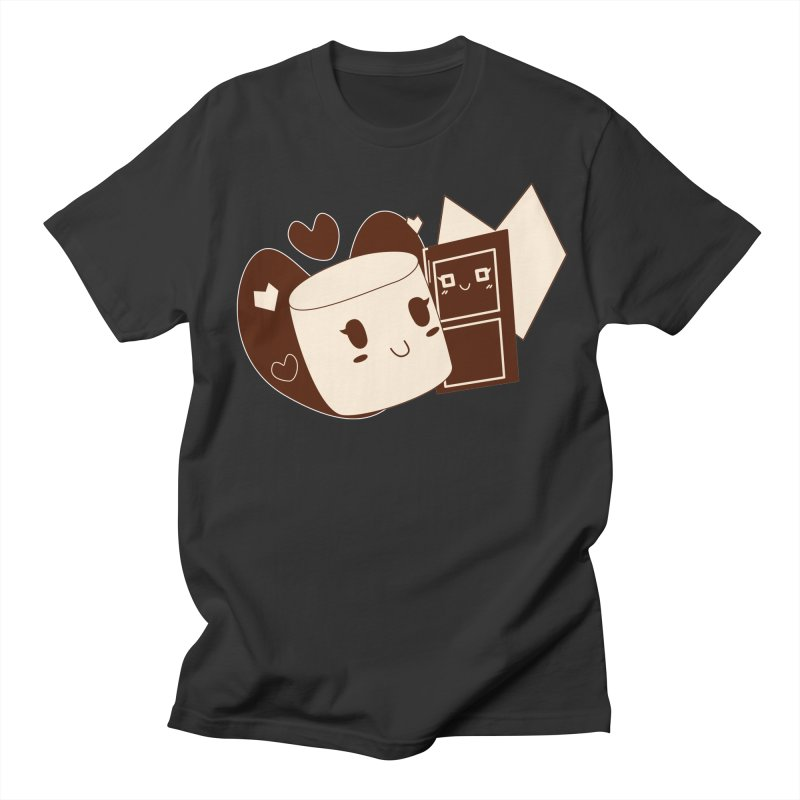 Chocolate Marshmallow Love Men's T-Shirt by Phancipy's Artist Shop