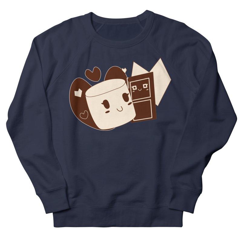 Chocolate Marshmallow Love Men's French Terry Sweatshirt by Phancipy's Artist Shop