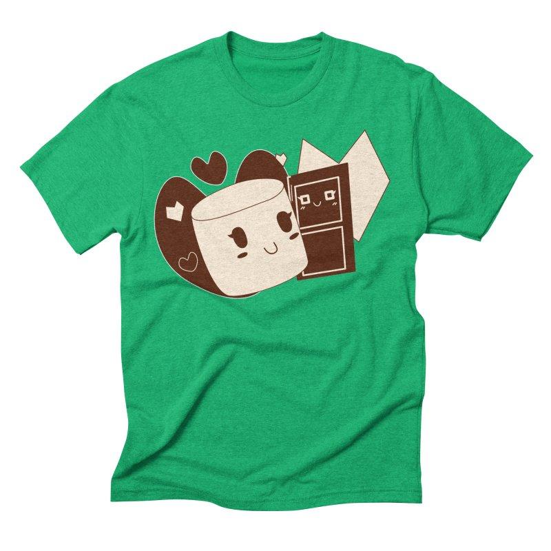 Chocolate Marshmallow Love Men's Triblend T-Shirt by Phancipy's Artist Shop