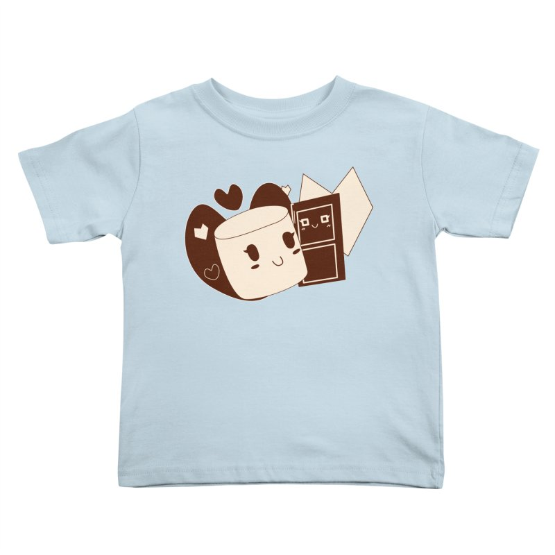 Chocolate Marshmallow Love Kids Toddler T-Shirt by Phancipy's Artist Shop
