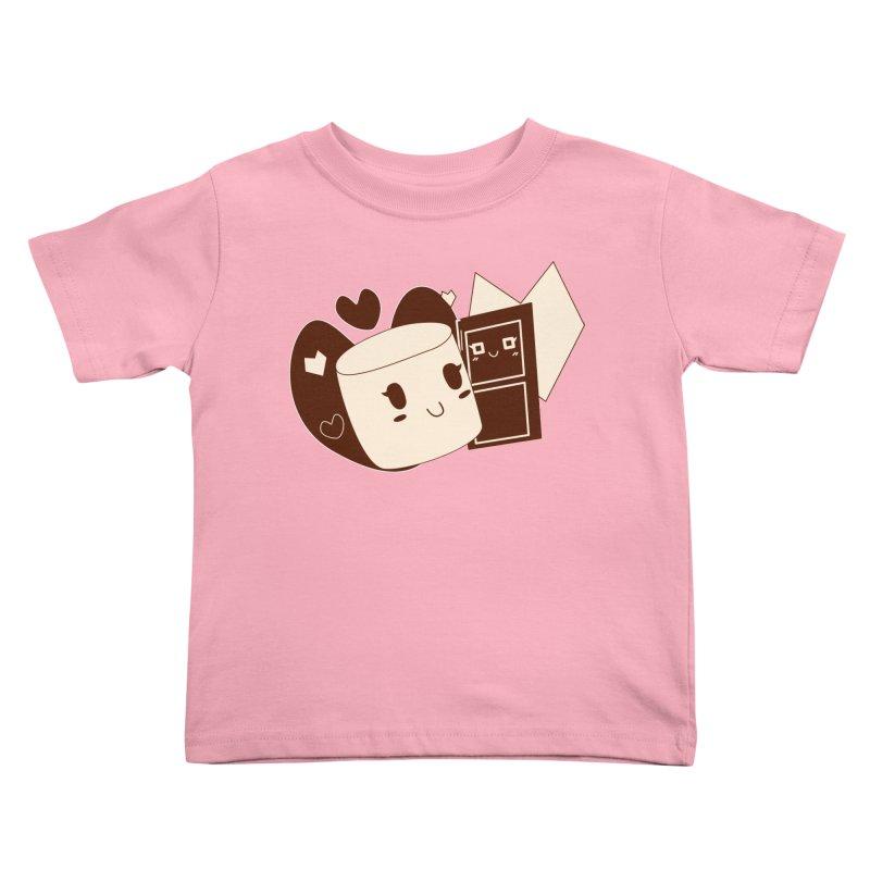 Chocolate Marshmallow Love Kids Toddler T-Shirt by Phancipy's Artist Shop