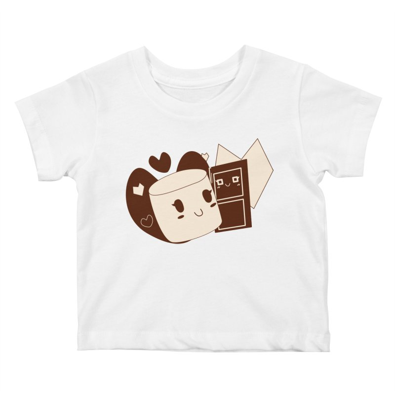 Chocolate Marshmallow Love Kids Baby T-Shirt by Phancipy's Artist Shop