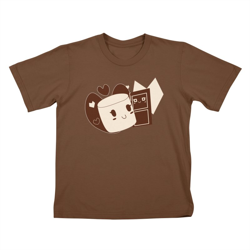Chocolate Marshmallow Love Kids T-Shirt by Phancipy's Artist Shop