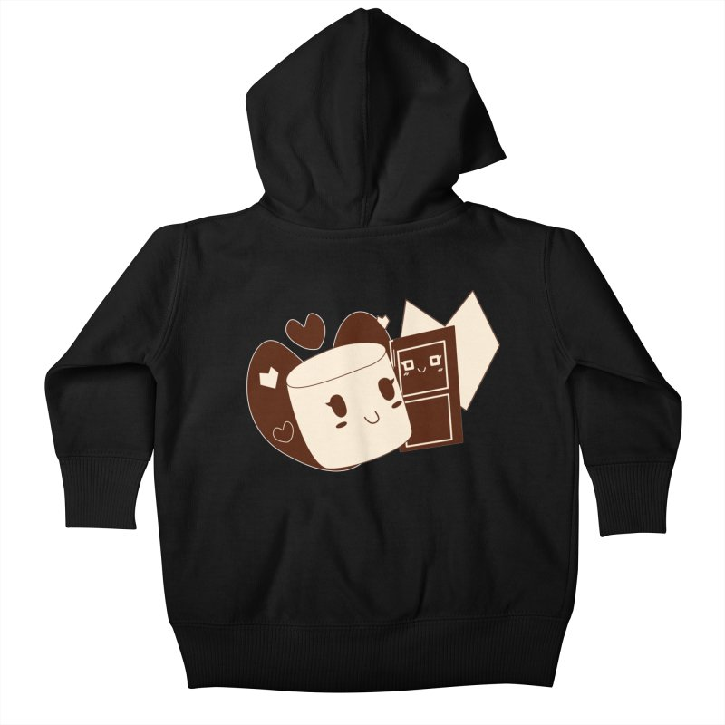 Chocolate Marshmallow Love Kids Baby Zip-Up Hoody by Phancipy's Artist Shop
