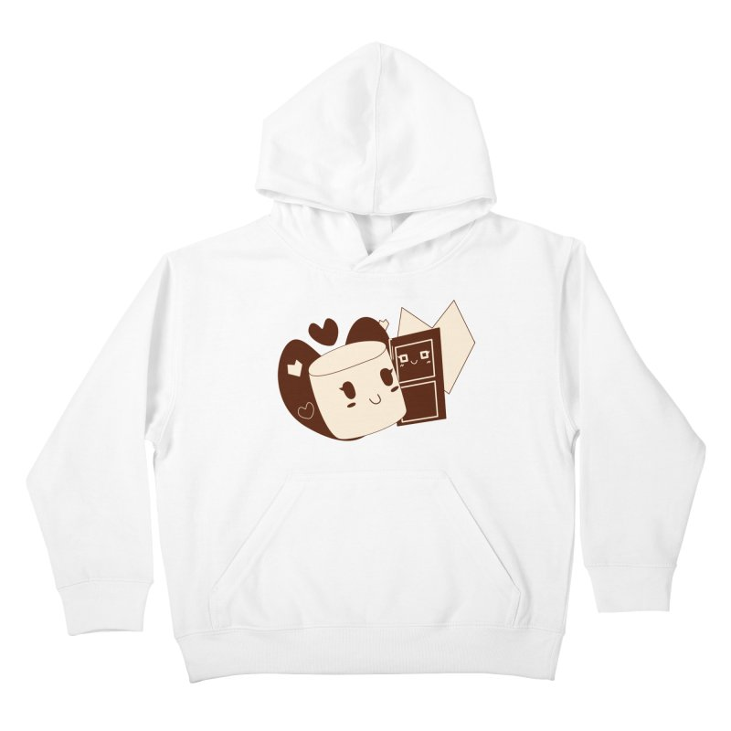 Chocolate Marshmallow Love Kids Pullover Hoody by Phancipy's Artist Shop