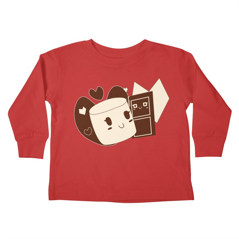 Chocolate Marshmallow Love Kids Toddler Longsleeve T-Shirt by Phancipy's Artist Shop