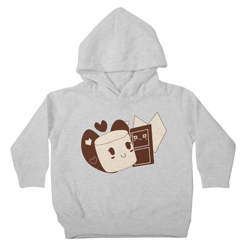Chocolate Marshmallow Love Kids Toddler Pullover Hoody by Phancipy's Artist Shop