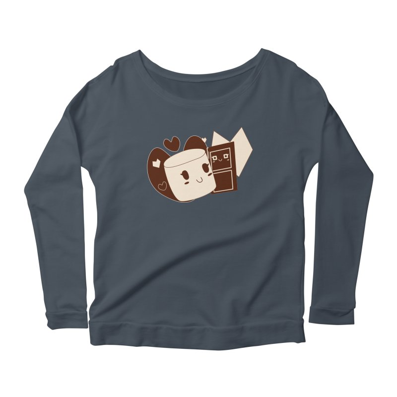 Chocolate Marshmallow Love Women's Longsleeve Scoopneck  by Phancipy's Artist Shop