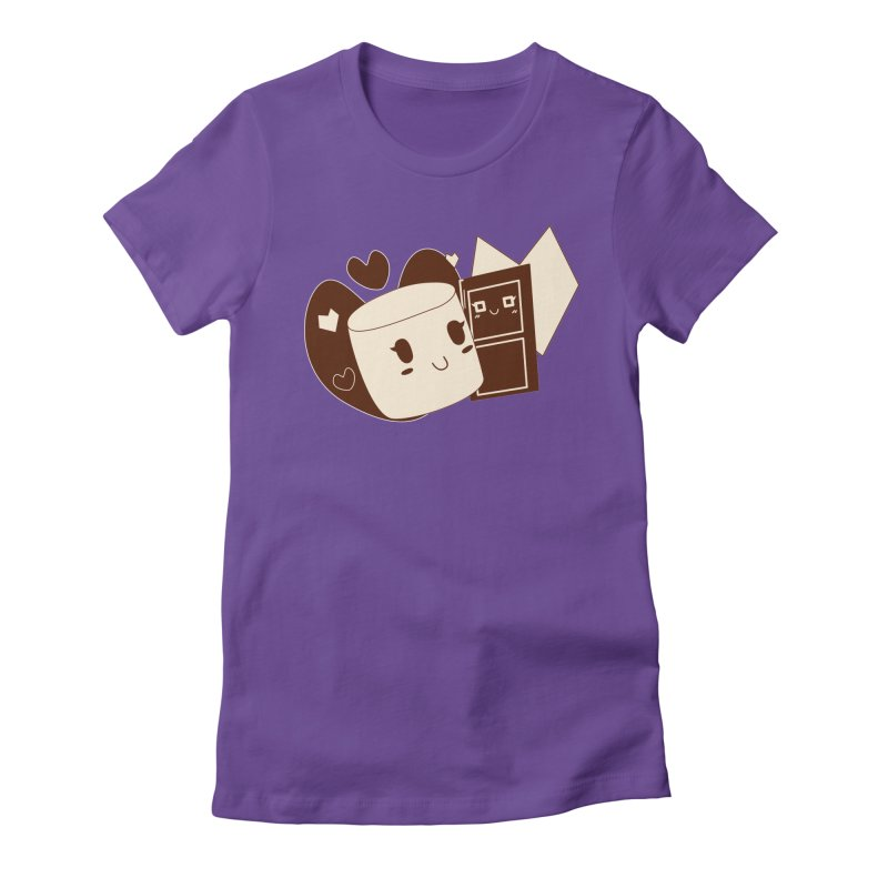 Chocolate Marshmallow Love Women's Fitted T-Shirt by Phancipy's Artist Shop