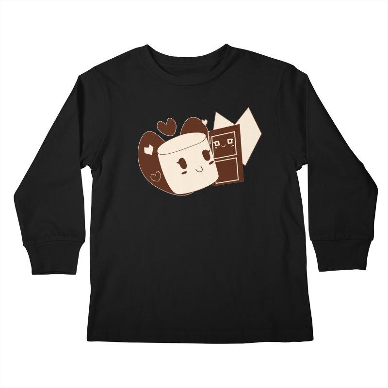Chocolate Marshmallow Love Kids Longsleeve T-Shirt by Phancipy's Artist Shop