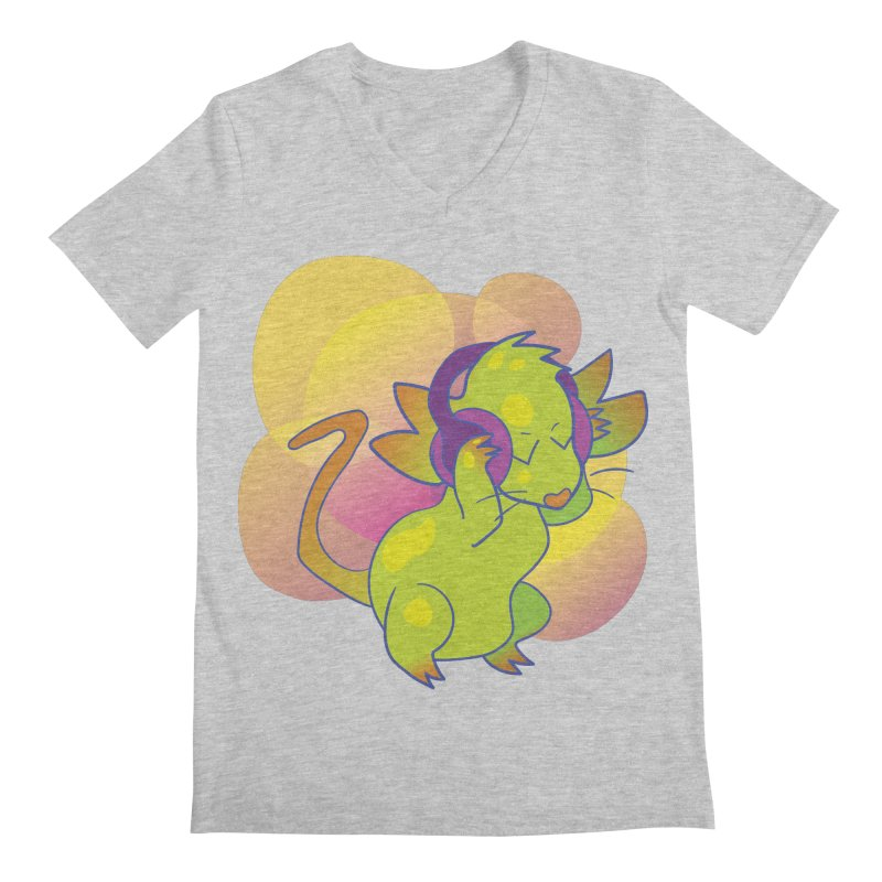 Fantasy Music Mouse Men's V-Neck by Phancipy's Artist Shop