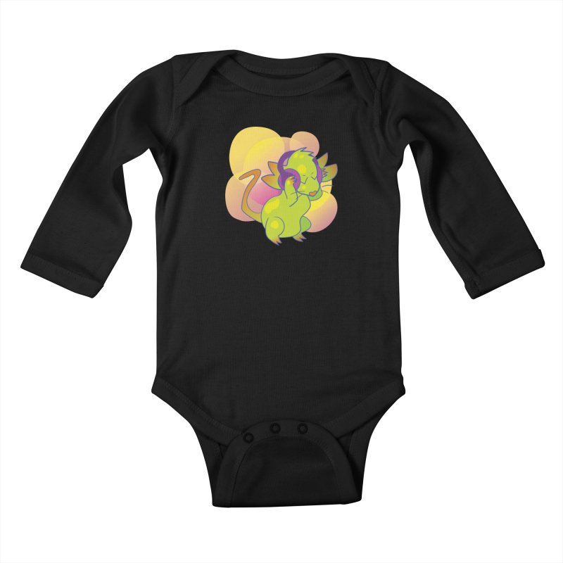 Fantasy Music Mouse Kids Baby Longsleeve Bodysuit by Phancipy's Artist Shop