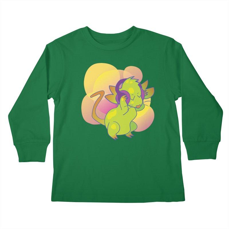 Fantasy Music Mouse Kids Longsleeve T-Shirt by Phancipy's Artist Shop