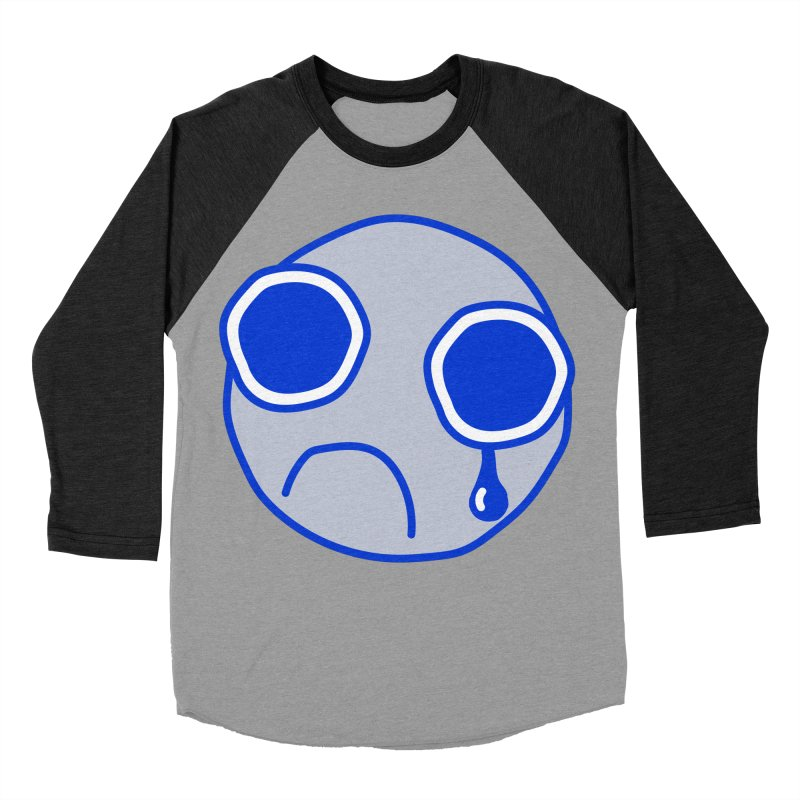 Tfw Sad Face Women's Baseball Triblend T-Shirt by Phancipy's Artist Shop