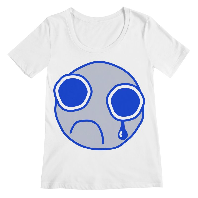 Tfw Sad Face Women's Regular Scoop Neck by Phancipy's Artist Shop