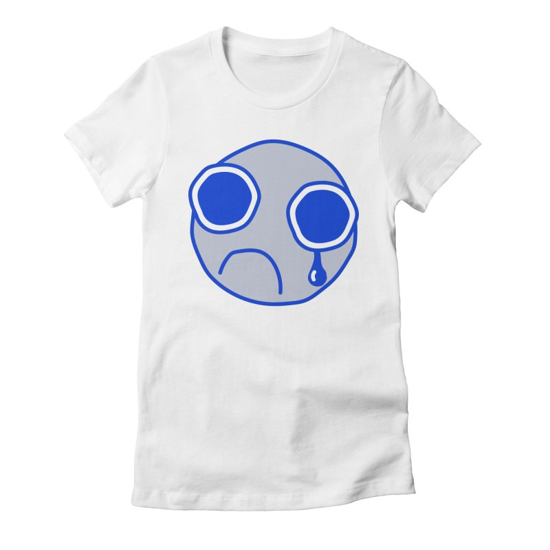 Tfw Sad Face Women's Fitted T-Shirt by Phancipy's Artist Shop
