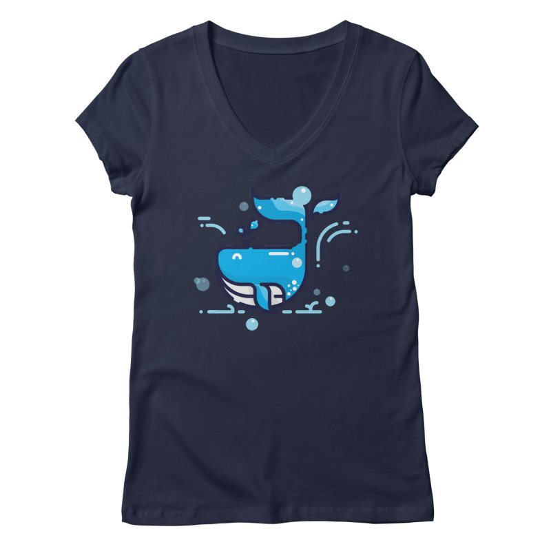 Is it whale done? Women's V-Neck by PhantomPoints's Artist Shop