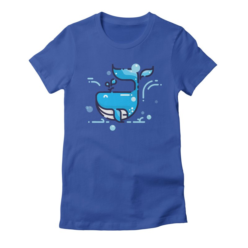 Is it whale done? Women's Fitted T-Shirt by PhantomPoints's Artist Shop