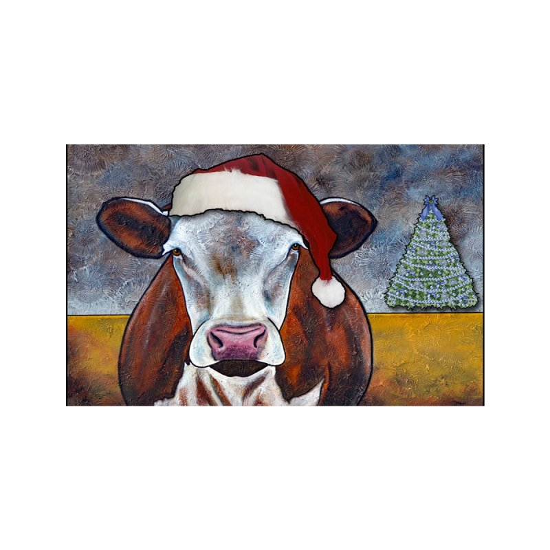 Christmas Cow Accessories Face Mask by PhilipDeAngeloStudio